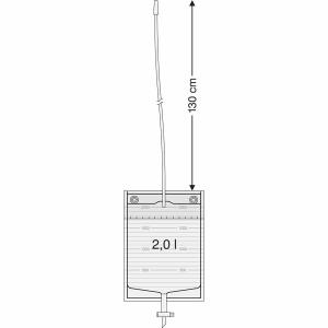 SAUER Bettbeutel 2 Liter mit Schiebehahn und 130 cm Schlauch