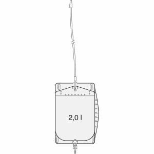SAUER Funktionsbeutel 2000 ml mit Schwenkhahn Urin Beutel für das Bett