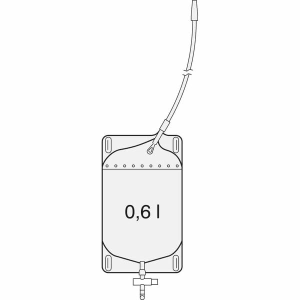 SAUER Rechteckbeutel mit 600 ml - Urin Beutel