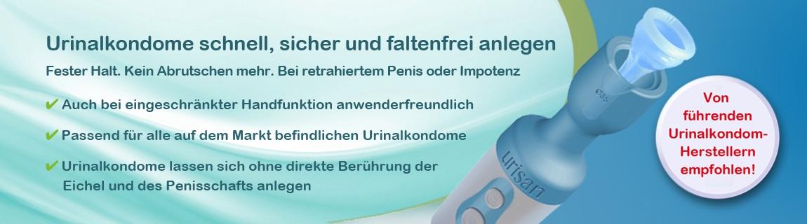 Applikator für Urinalkondome